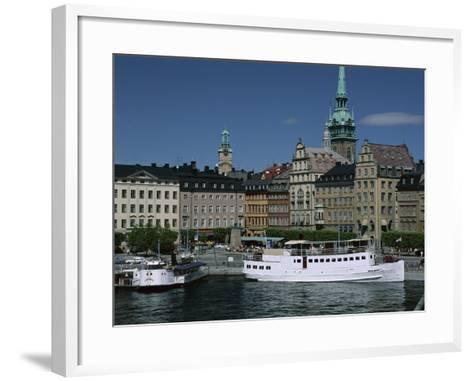 Munkbroleden Waterfront, Gamla Stan (Old Town), Stockholm, Sweden, Scandinavia-Duncan Maxwell-Framed Art Print