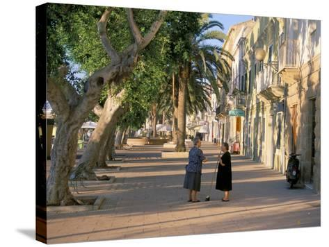 Via Cavour, Street Facing the Harbour, Carloforte, Southwest Area, Island of Sardinia, Italy-Duncan Maxwell-Stretched Canvas Print