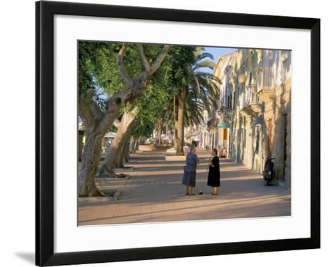 Via Cavour, Street Facing the Harbour, Carloforte, Southwest Area, Island of Sardinia, Italy-Duncan Maxwell-Framed Art Print