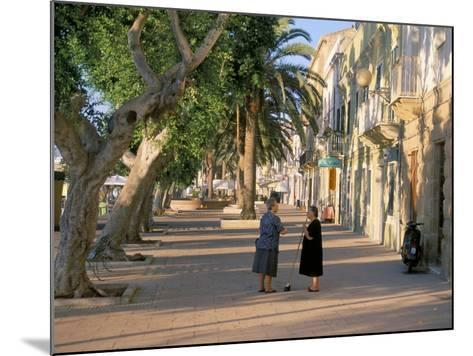 Via Cavour, Street Facing the Harbour, Carloforte, Southwest Area, Island of Sardinia, Italy-Duncan Maxwell-Mounted Photographic Print
