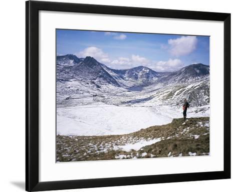 Winter Walking in the Carneddau Mountains, Snowdonia National Park, Wales, United Kingdom-Duncan Maxwell-Framed Art Print