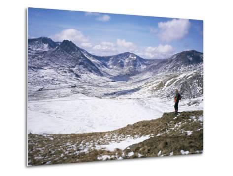 Winter Walking in the Carneddau Mountains, Snowdonia National Park, Wales, United Kingdom-Duncan Maxwell-Metal Print