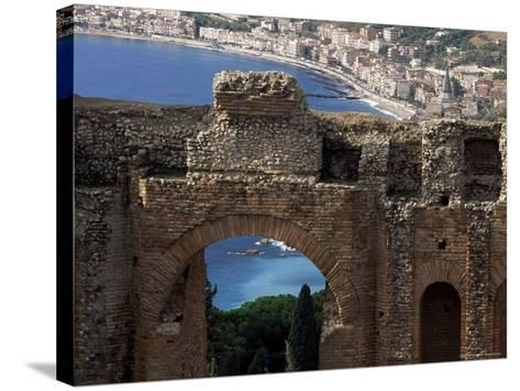 Teatro Greco, Founded in the 3rd Century Bc, Taormina, Sicily, Italy-Duncan Maxwell-Stretched Canvas Print