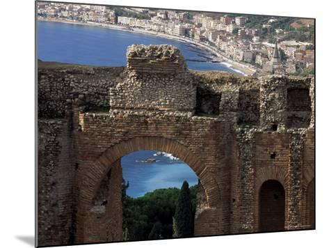 Teatro Greco, Founded in the 3rd Century Bc, Taormina, Sicily, Italy-Duncan Maxwell-Mounted Photographic Print