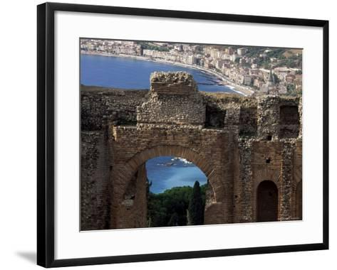 Teatro Greco, Founded in the 3rd Century Bc, Taormina, Sicily, Italy-Duncan Maxwell-Framed Art Print