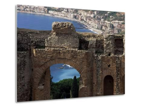 Teatro Greco, Founded in the 3rd Century Bc, Taormina, Sicily, Italy-Duncan Maxwell-Metal Print