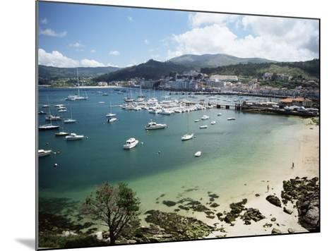 View of Beach, Harbour and Town, Bayona, Galicia, Spain-Duncan Maxwell-Mounted Photographic Print