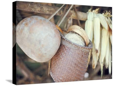 Maize and Indian Baskets, Brazil, South America-Robin Hanbury-tenison-Stretched Canvas Print