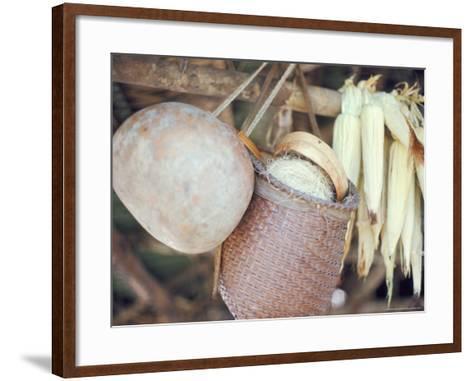 Maize and Indian Baskets, Brazil, South America-Robin Hanbury-tenison-Framed Art Print