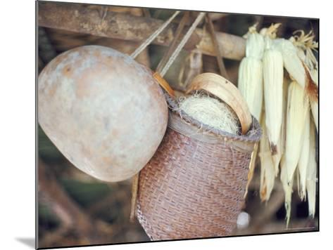 Maize and Indian Baskets, Brazil, South America-Robin Hanbury-tenison-Mounted Photographic Print