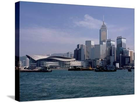 Hk Convention and Exhibition Center, Victoria Harbour, Hong Kong, China-Amanda Hall-Stretched Canvas Print