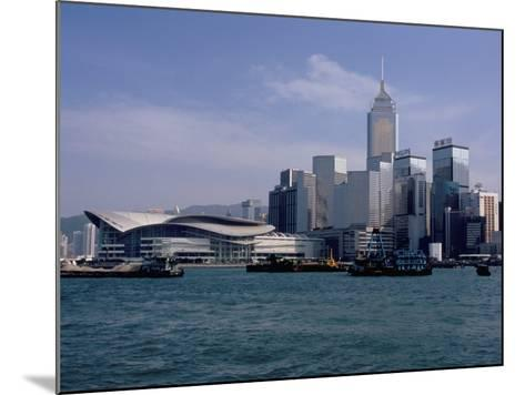 Hk Convention and Exhibition Center, Victoria Harbour, Hong Kong, China-Amanda Hall-Mounted Photographic Print