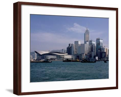 Hk Convention and Exhibition Center, Victoria Harbour, Hong Kong, China-Amanda Hall-Framed Art Print