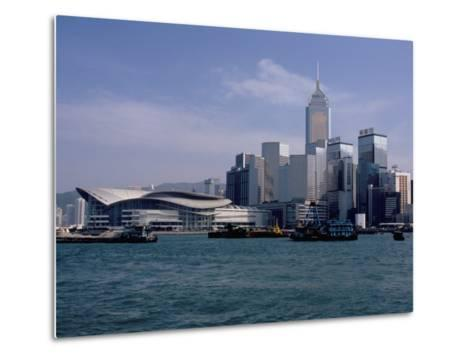 Hk Convention and Exhibition Center, Victoria Harbour, Hong Kong, China-Amanda Hall-Metal Print