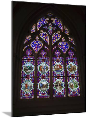 15th Century Stained Glass Window in the Cathedrale St-Corentin, Southern Finistere, France-Amanda Hall-Mounted Photographic Print