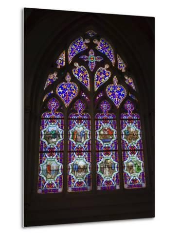 15th Century Stained Glass Window in the Cathedrale St-Corentin, Southern Finistere, France-Amanda Hall-Metal Print