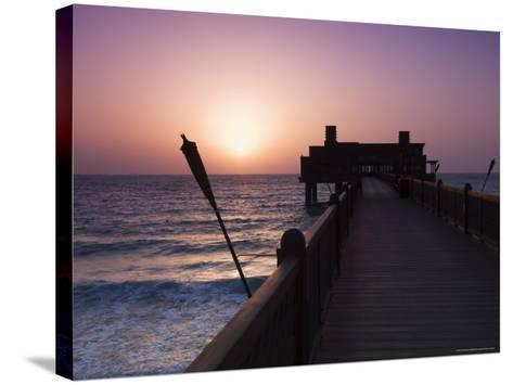 Pier at Madinat Jumeirah Hotel, Dubai, United Arab Emirates, Middle East-Amanda Hall-Stretched Canvas Print