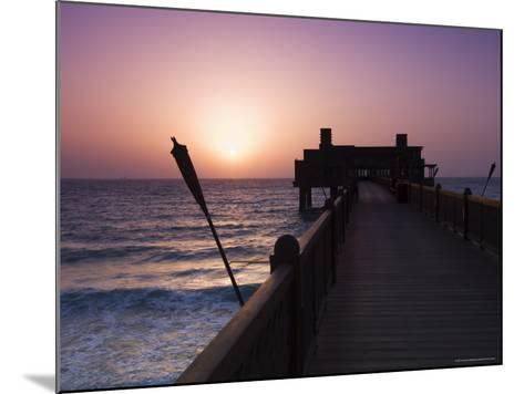Pier at Madinat Jumeirah Hotel, Dubai, United Arab Emirates, Middle East-Amanda Hall-Mounted Photographic Print