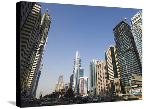 Sheikh Zayed Road, Dubai, United Arab Emirates, Middle East-Amanda Hall-Stretched Canvas Print