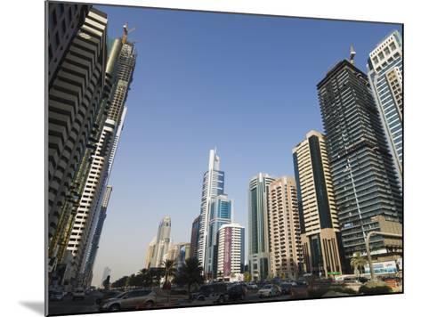 Sheikh Zayed Road, Dubai, United Arab Emirates, Middle East-Amanda Hall-Mounted Photographic Print