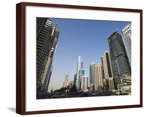 Sheikh Zayed Road, Dubai, United Arab Emirates, Middle East-Amanda Hall-Framed Art Print