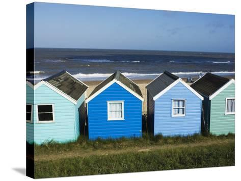 Beach Huts, Southwold, Suffolk, England, United Kingdom-Amanda Hall-Stretched Canvas Print