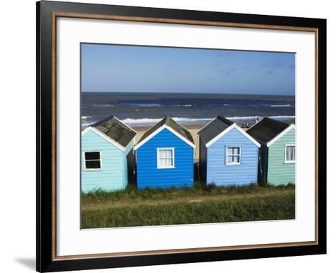 Beach Huts, Southwold, Suffolk, England, United Kingdom-Amanda Hall-Framed Art Print