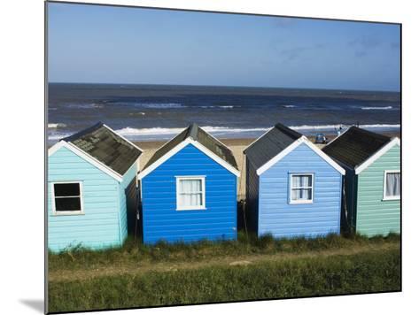 Beach Huts, Southwold, Suffolk, England, United Kingdom-Amanda Hall-Mounted Photographic Print