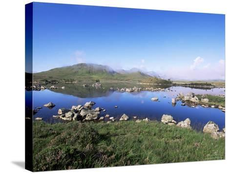 Lochan Na H-Achlaise, Rannoch Moor, Black Mount in the Background, Highland Region, Scotland-Lousie Murray-Stretched Canvas Print