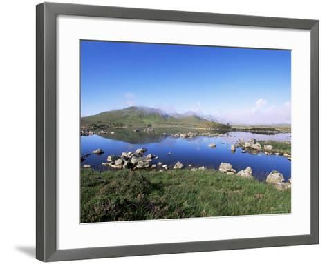 Lochan Na H-Achlaise, Rannoch Moor, Black Mount in the Background, Highland Region, Scotland-Lousie Murray-Framed Art Print