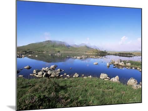 Lochan Na H-Achlaise, Rannoch Moor, Black Mount in the Background, Highland Region, Scotland-Lousie Murray-Mounted Photographic Print