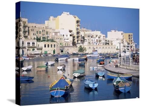 St. Julians Bay, Malta, Mediterranean-J Lightfoot-Stretched Canvas Print