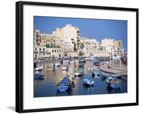 St. Julians Bay, Malta, Mediterranean-J Lightfoot-Framed Art Print