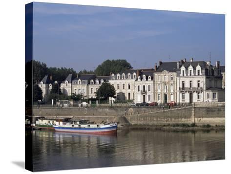 Quai Des Carmes on River Maine, Angers, Anjou, Pays De La Loire, France-J Lightfoot-Stretched Canvas Print