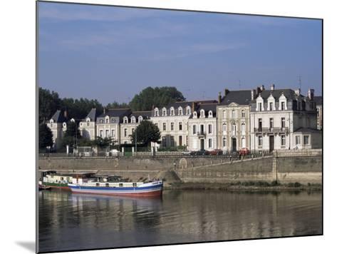 Quai Des Carmes on River Maine, Angers, Anjou, Pays De La Loire, France-J Lightfoot-Mounted Photographic Print