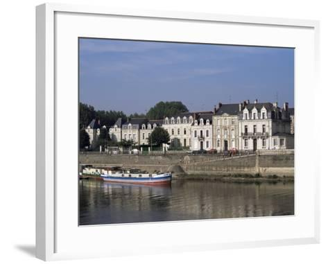 Quai Des Carmes on River Maine, Angers, Anjou, Pays De La Loire, France-J Lightfoot-Framed Art Print