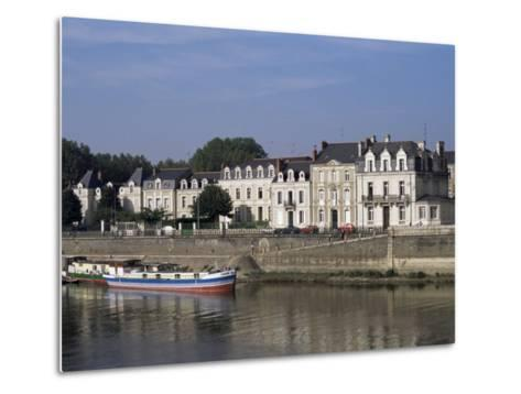 Quai Des Carmes on River Maine, Angers, Anjou, Pays De La Loire, France-J Lightfoot-Metal Print