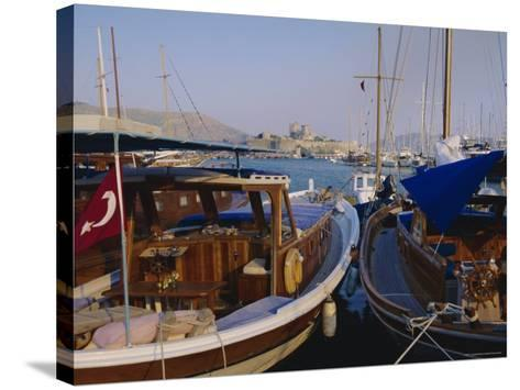 The Harbour, Bodrum, Anatolia, Turkey-J Lightfoot-Stretched Canvas Print
