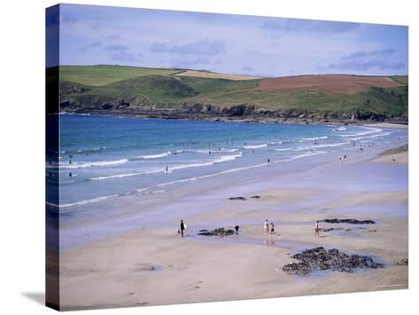 Pentire Point, Polzeath, Cornwall, England, United Kingdom-J Lightfoot-Stretched Canvas Print