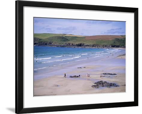 Pentire Point, Polzeath, Cornwall, England, United Kingdom-J Lightfoot-Framed Art Print