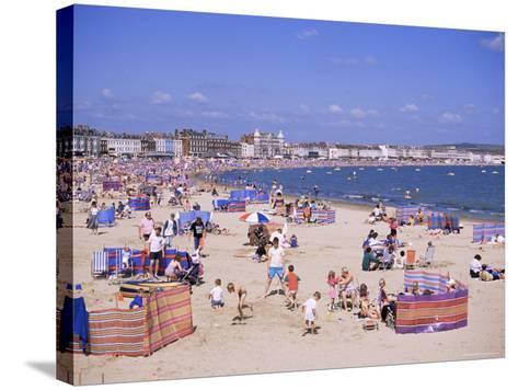 The Beach, Weymouth, Dorset, England, United Kingdom-J Lightfoot-Stretched Canvas Print