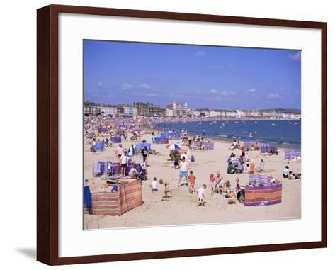 The Beach, Weymouth, Dorset, England, United Kingdom-J Lightfoot-Framed Art Print