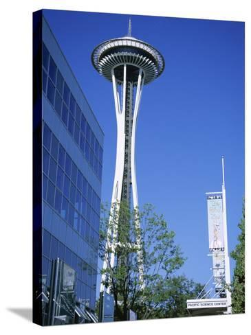 Space Needle, Seattle, Washington State, USA-J Lightfoot-Stretched Canvas Print