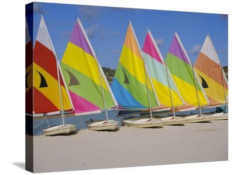 Sail Boats on the Beach, St. James Club, Antigua, Caribbean, West Indies, Central America-J Lightfoot-Stretched Canvas Print