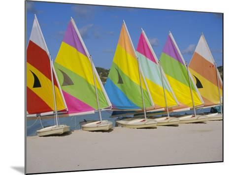 Sail Boats on the Beach, St. James Club, Antigua, Caribbean, West Indies, Central America-J Lightfoot-Mounted Photographic Print