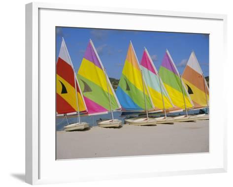 Sail Boats on the Beach, St. James Club, Antigua, Caribbean, West Indies, Central America-J Lightfoot-Framed Art Print