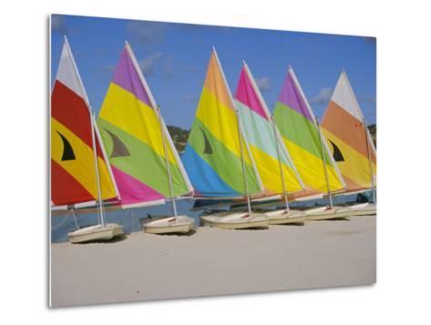 Sail Boats on the Beach, St. James Club, Antigua, Caribbean, West Indies, Central America-J Lightfoot-Metal Print