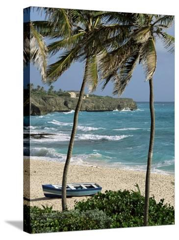 Sam Lords Castle, Palms and Beach, Barbados, West Indies, Caribbean, Central America-J Lightfoot-Stretched Canvas Print