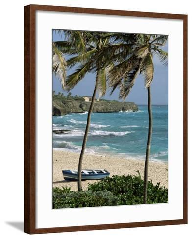 Sam Lords Castle, Palms and Beach, Barbados, West Indies, Caribbean, Central America-J Lightfoot-Framed Art Print