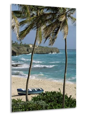 Sam Lords Castle, Palms and Beach, Barbados, West Indies, Caribbean, Central America-J Lightfoot-Metal Print